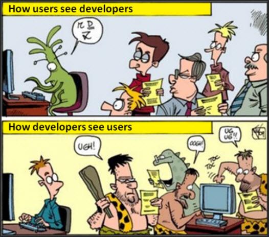 Developers vs Users