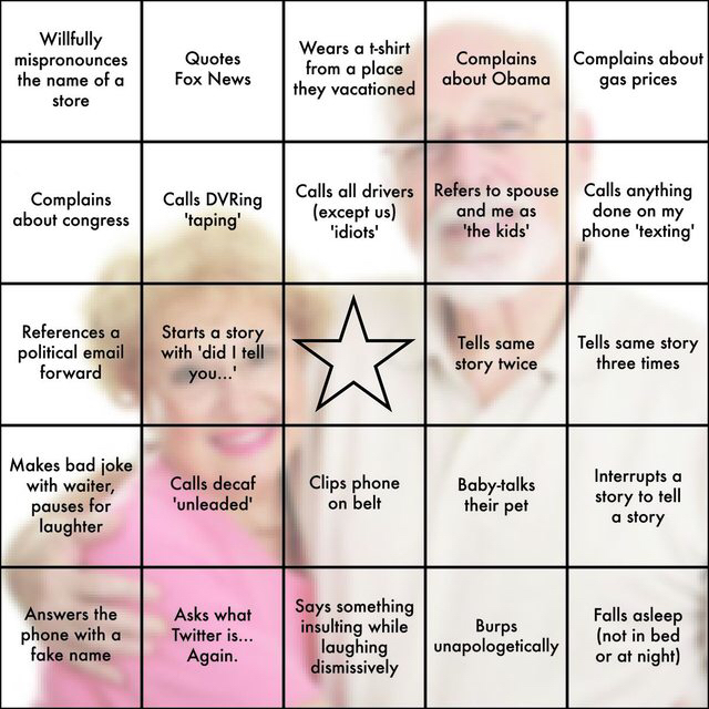 I made In-Law BINGO for thanksgiving