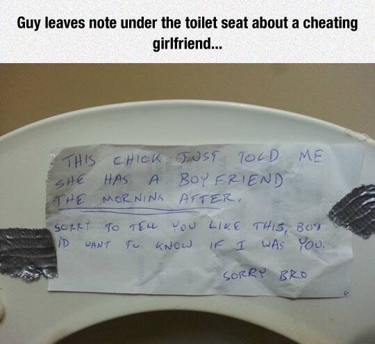 Brilliant way to find out your girl is cheating
