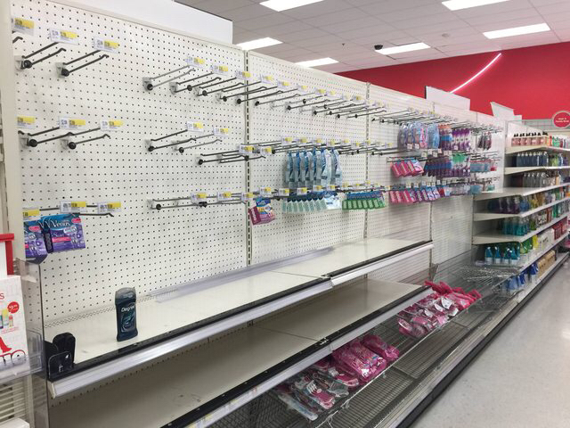 You know it's Valentines Day when all the ladies razors are sold out