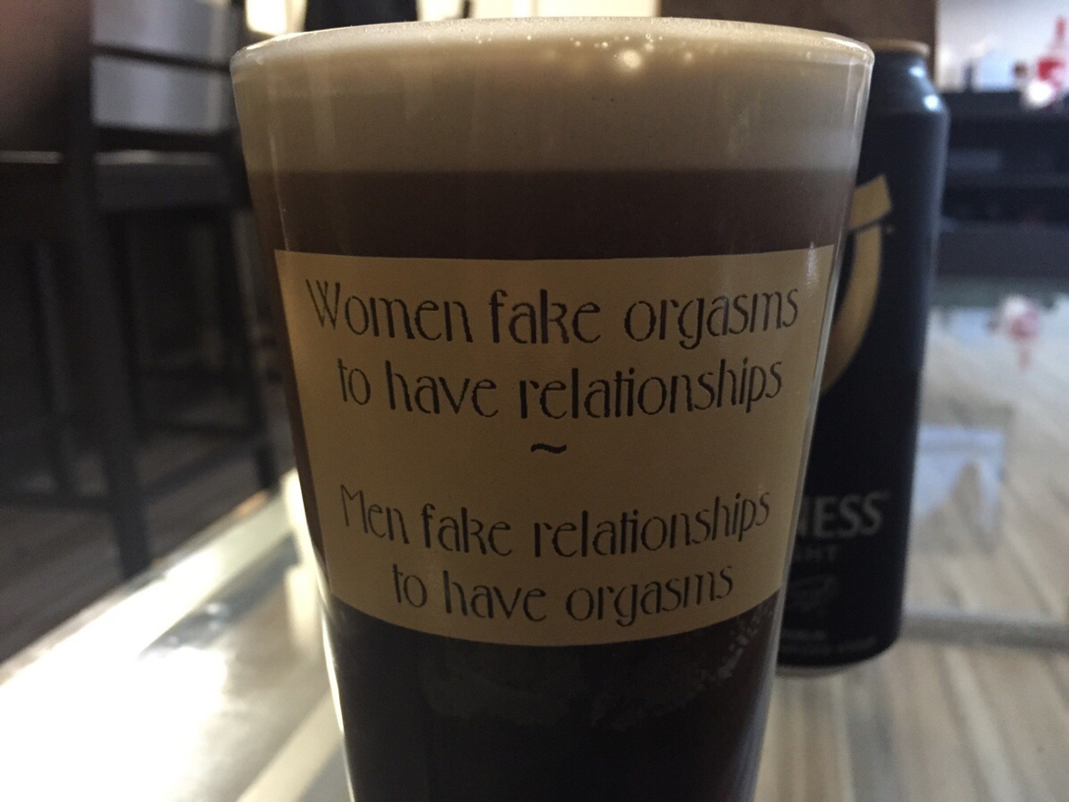 Pint glass wisdom