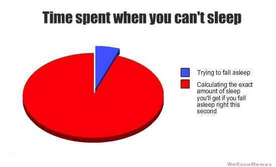 Trying to sleep every night