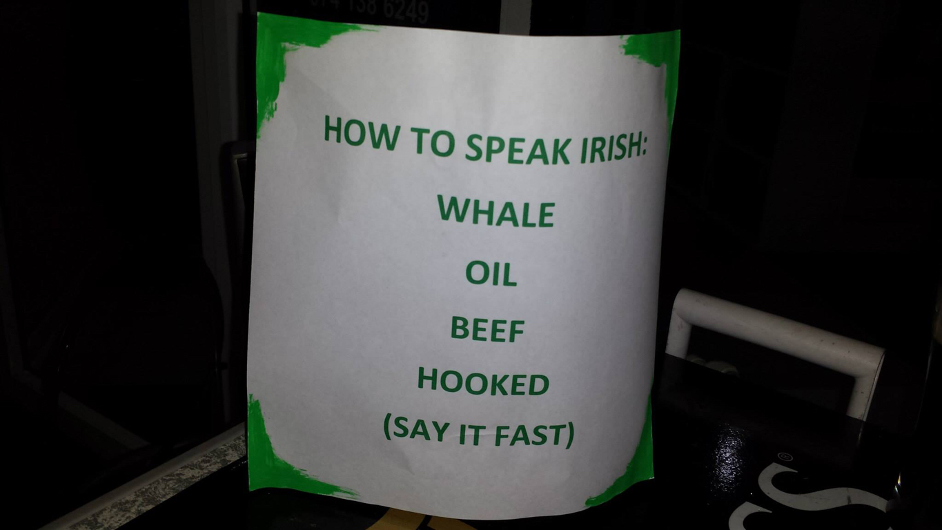 Saw this at an Irish bar nearby