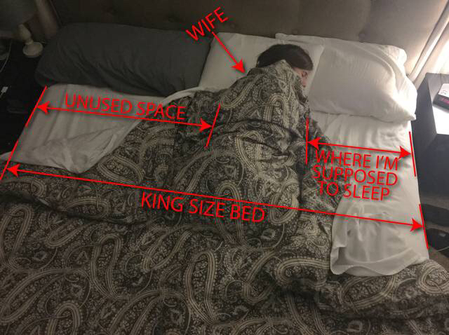 So glad we bought a King size bed