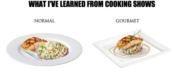 What I learned from cooking shows