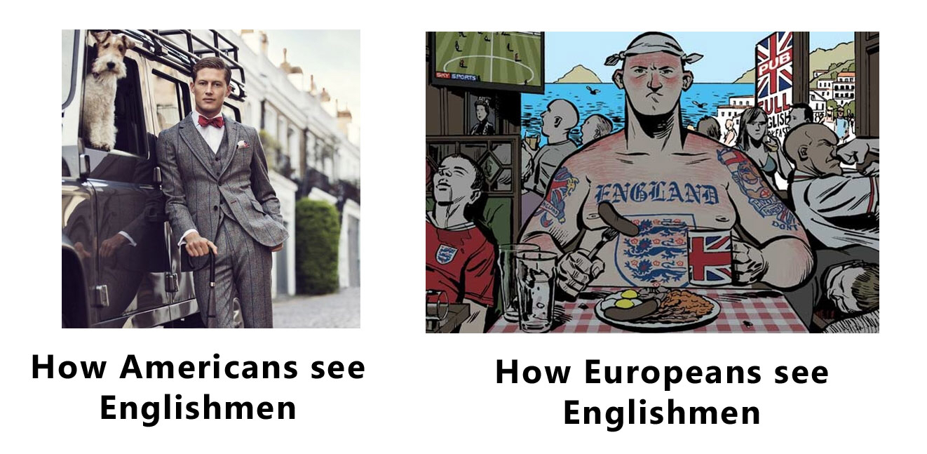 How people with an British accent are seen by Americans and Europeans