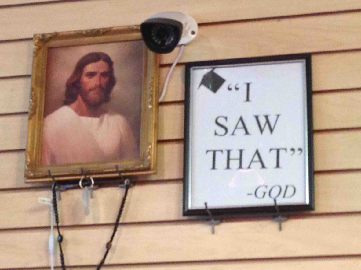 Jesus is watching you o_O