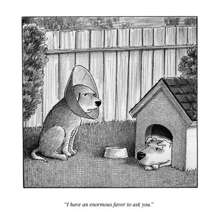 One of the best New Yorker cartoons was a rejected one
