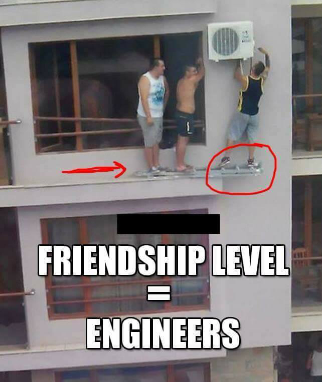 Friendship level = Engineers