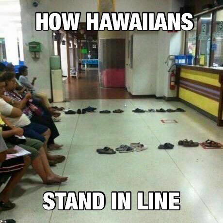How Hawaiians Stand In Line