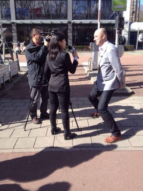 It's not easy getting interviewed by Chinese people when you're Dutch..