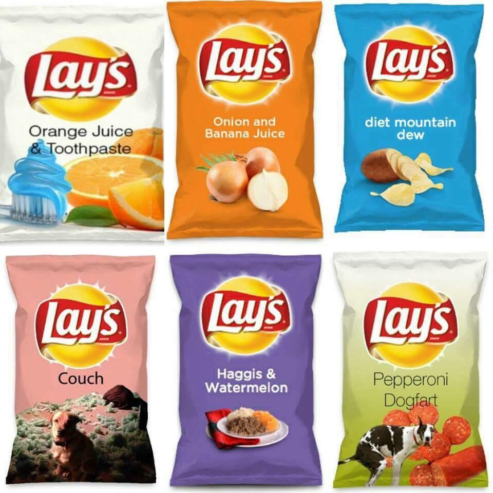 Terrible chip flavours