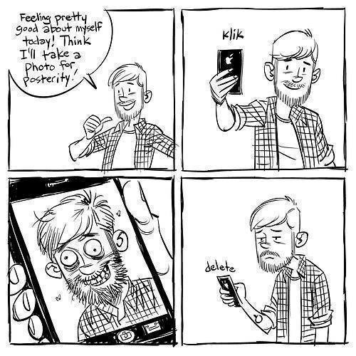 The problem with selfies...