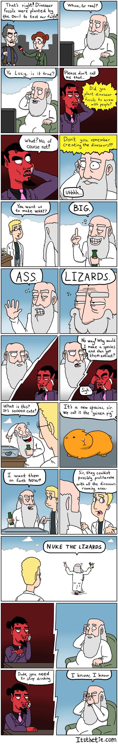God Vs Satan- Fossils