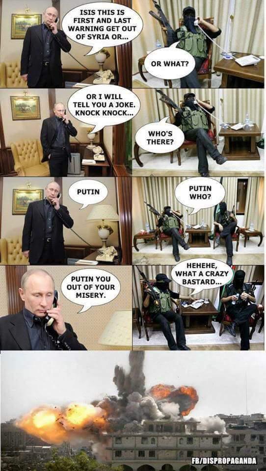Putin tells ISIS a Knock-Knock joke
