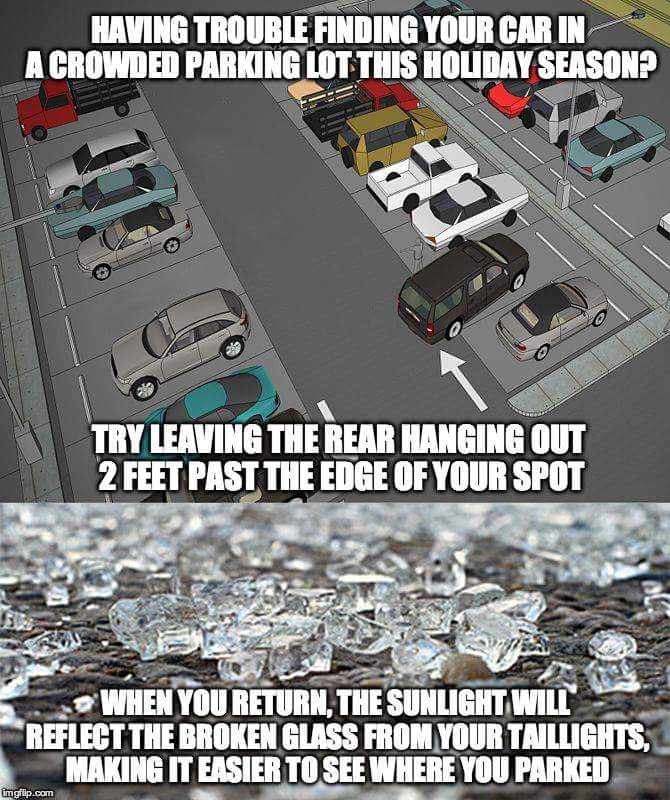 Finding your car in the parking lot has never been easier