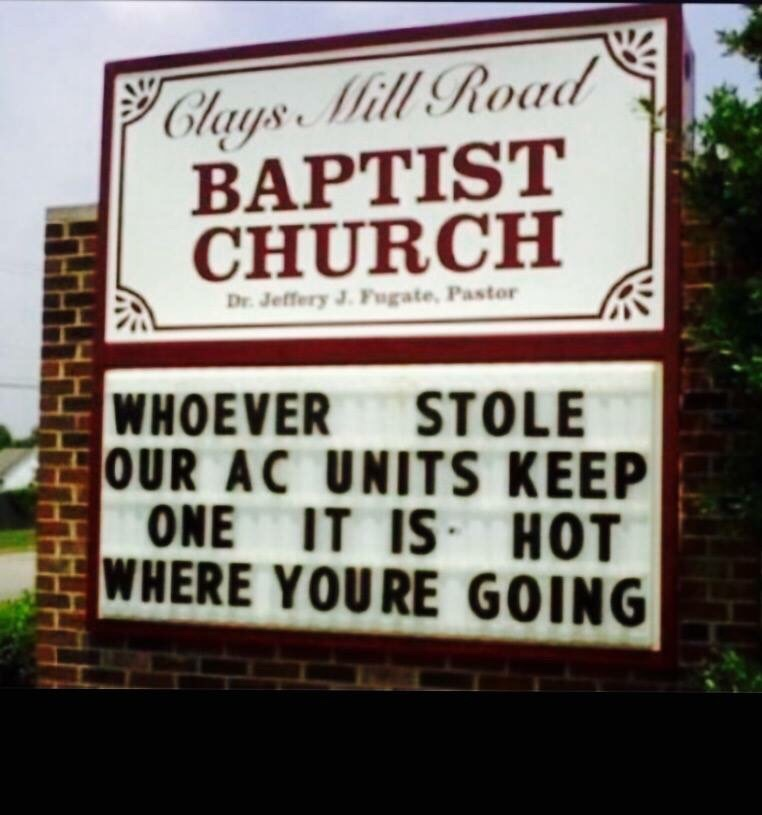 One of my favorite church signs