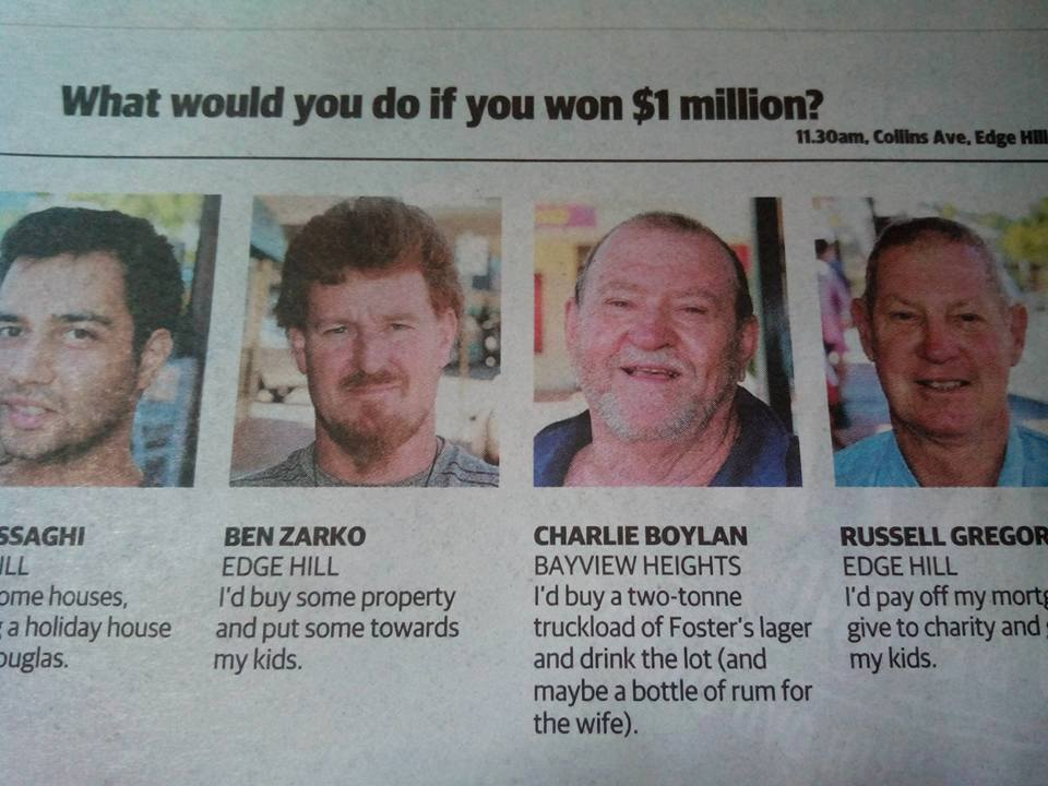 What would you do if you won $1 million dollars?