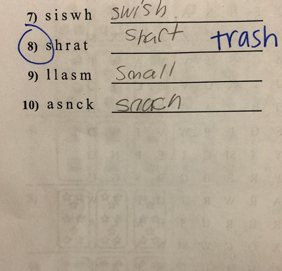 Kids spell the darndest things