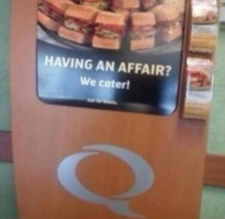 You know what this Adultery needs? Sandwiches!