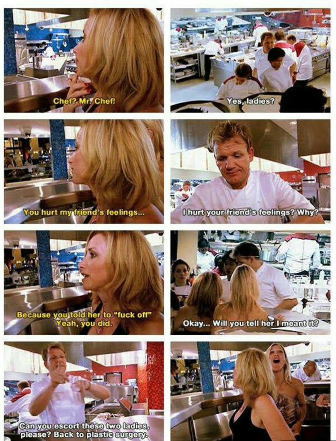 Gordon Ramsay telling it like it is...