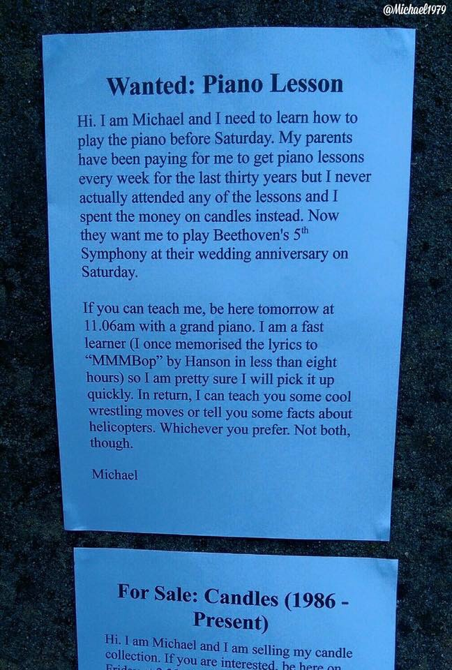 Michael did a bad bad thing