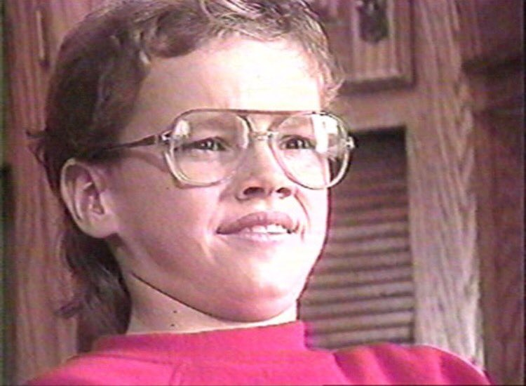 If you're having a bad day, here's a pic of Matt Damon at age 12