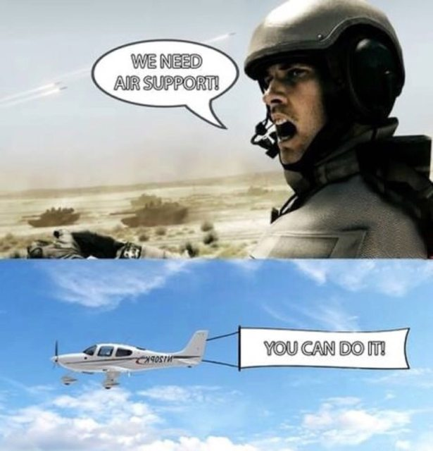 When you actually need air support