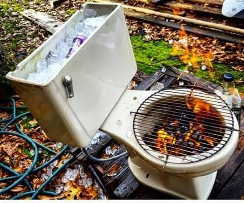redneck BBQ and cooler