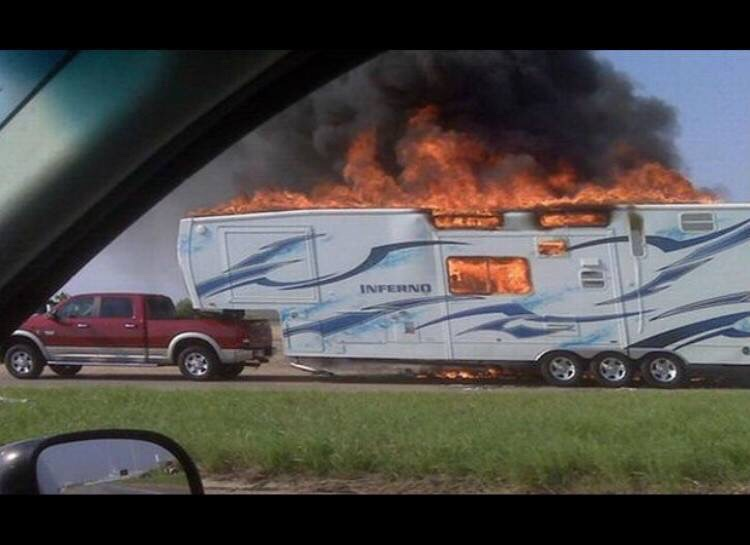This camper is called the Inferno for good reason