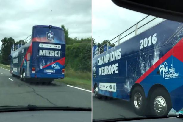 French Champions' bus had to be returned... Hope they kept the receipt