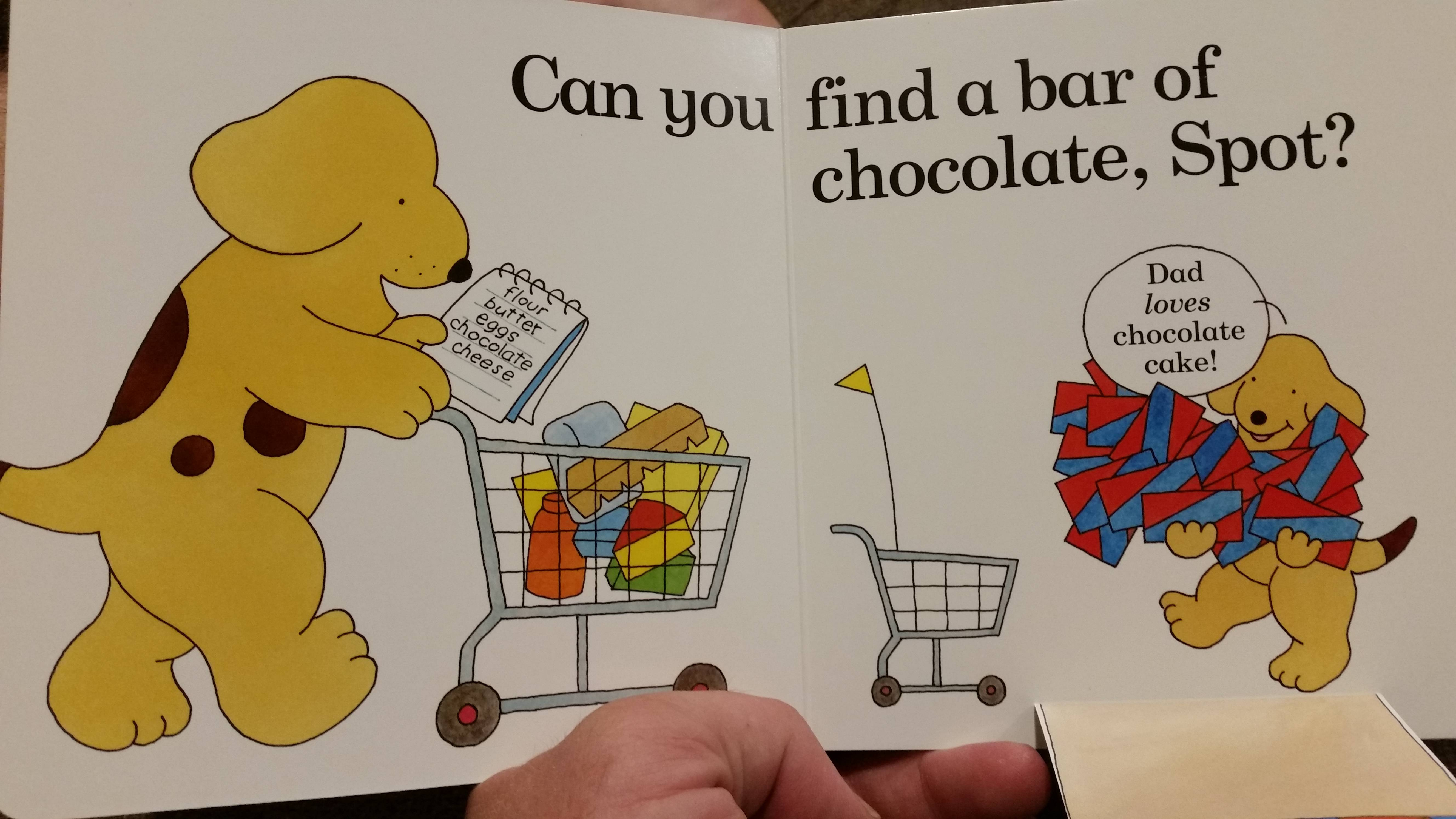 Chocolate for a dog, why don't you go straight for arsenic, Spot ...